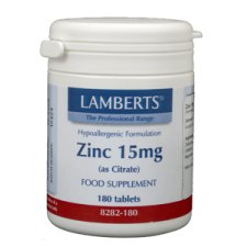 180 tabletten Lamberts Zink Citraat 15mg
