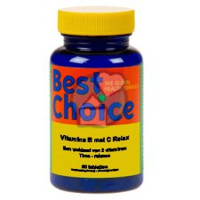 60 tabletten Best Choice Vitamine B en C Relax