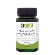60 capsules AOV Groene Thee extract 250mg