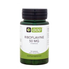 100 tabletten AOV Riboflavine 50mg