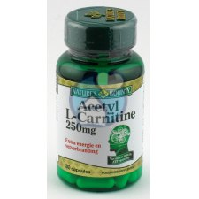 30 capsules Natures Bounty Acetyl L-Carnitine 250 mg