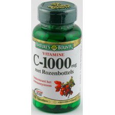 100 tabletten Natures Bounty C-1000 met Rozenbottels