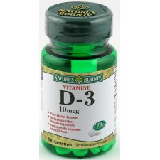 100 tabletten Natures Bounty D-3 10mcg