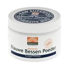125 gram Mattisson Absolute Blauwe Bessen Poeder Raw