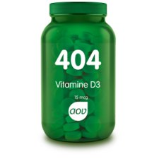 404 Vitamine D3 15 mcg AOV 60 tabletten