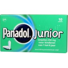 10 zetpillen Panadol Junior 250mg