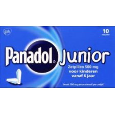 10 zetpillen Panadol Junior 500mg
