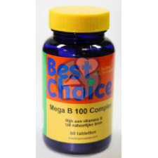 60 tabletten Best Choice Mega B-100 Complex
