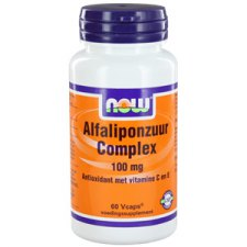 60 capsules NOW Foods Alfaliponzuur Complex 100mg