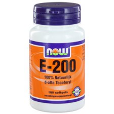 100 softgels NOW Foods Vitamine E-200 d-alpha Tocopheryl