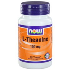 30 Vcaps NOW Foods L-Theanine 100mg