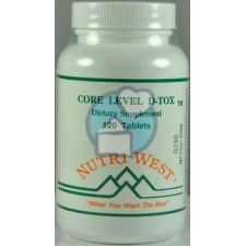 120 tabletten Nutri West Core Level D-Tox