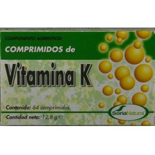64 tabletten SoriaNatural Vitamine K