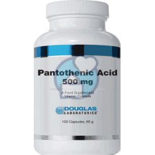 100 capsules Douglas Laboratories Pantothenic Acid 500 mg