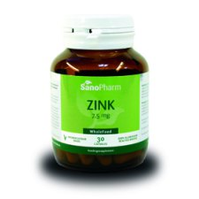30 capsules SanoPharm Zink 7,5 mg