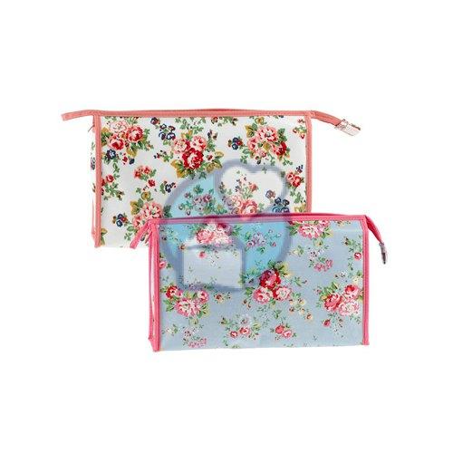Toilettas Dames : Toilettas dames flower blauw classics exemplaar kopen