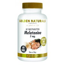 60 smelttabletjes Golden Naturals Melatonine 3 mg