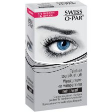 12 applicaties Swiss O-Par Wenkbrauw- en Wimperkleur Zwart