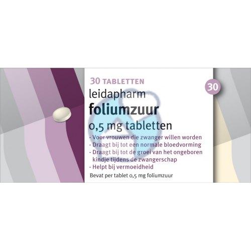 Foliumzuur Leidapharm 30 Tabletten Kopen Gezondheid Aan Huis