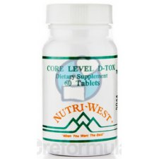 60 tabletten Nutri West Core Level D-Tox