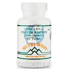 60 tabletten Nutri West Core Level Health Reserve