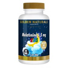 60 tabletten Golden Naturals Melatonine 1,5 mg Kids