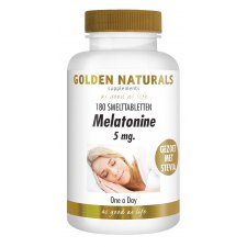 180 smelttabletjes Golden Naturals Melatonine 5 mg