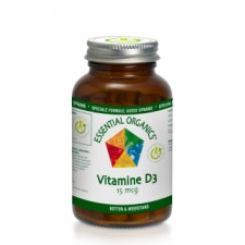 90 tabletten Essential Organics Vitamine D3 15mcg