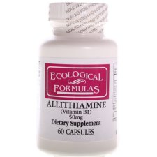 60 capsules Ecological Formulas Allithiamine (Vitamine B1) 50 mg