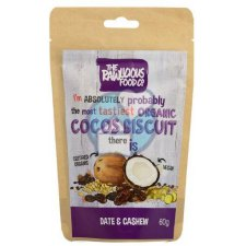 60 gram RawLicious Cocos Biscuit Dadel & Cashew