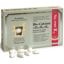 60 tabletten Pharma Nord Bio-Calcium+D3+K1+K2