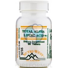 90 tabletten Nutri West Total Alpha Lipoic Acid