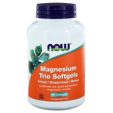 90 softgels NOW Foods Magnesium Trio Softgels