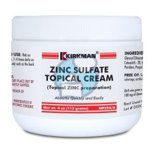 113 gram Kirkman Zinc Sulfate Topical Cream