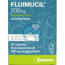 30 capsules Fluimucil Acetylcysteine 200 mg