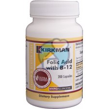 200 capsules Kirkman Folic Acid With B12