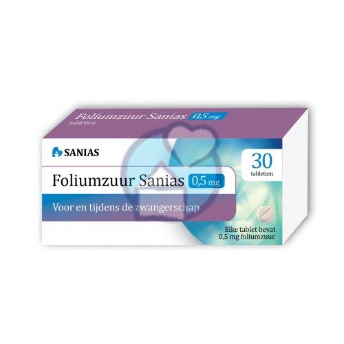 Foliumzuur 05 Mg Sanias 30 Tabletten Kopen Gezondheid Aan Huis