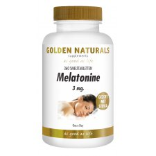 360 smelttabletjes Golden Naturals Melatonine 3 mg