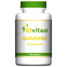90 tabletten Elvitaal Guarana Energiekruid
