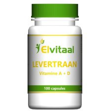 100 capsules Elvitaal Levertraan Vitamine A + D
