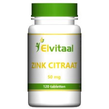 120 tabletten Elvitaal Zink Citraat 50mg