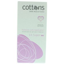 14 stuks Cottons Tampons Super with Applicator