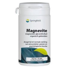 60 tabletten Springfield Magnevite Magnesium Glycerofosfaat 100 mg