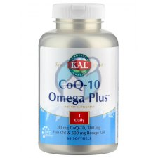 60 softgels KAL CoQ-10 Omega Plus