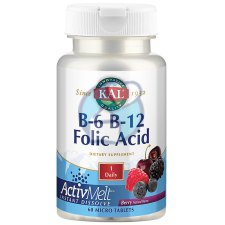 60 tabletten KAL B-6 B-12 Folic Acid ActivMelt