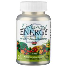 60 tabletten KAL Enhanced Energy Whole Food Multivitamin Once Daily