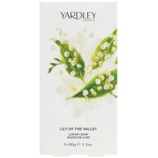 3 x 100 gram Yardley Lily of the Valley Luxury Soap