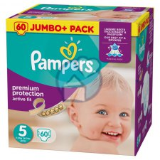 60 stuks Pampers Active Fit Junior 5 Jumbo+ Pack