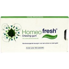 12 tabletten Homeofresh Chewing Gum Chlorophyllum