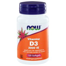 120 softgels NOW Foods Vitamine D3 2000 IE 50 mcg